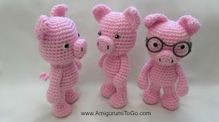 Little Bigfoot Piggy 2014 With Video Amigurumi - Free Crochet Pattern