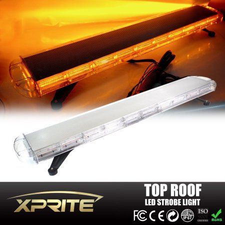Amazing Xprite inch Inch LED Amber Modes Roof Top Emergency Strobe LED Light Bar