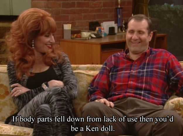 """Peg and Al Bundy from """"Married With Children"""" 