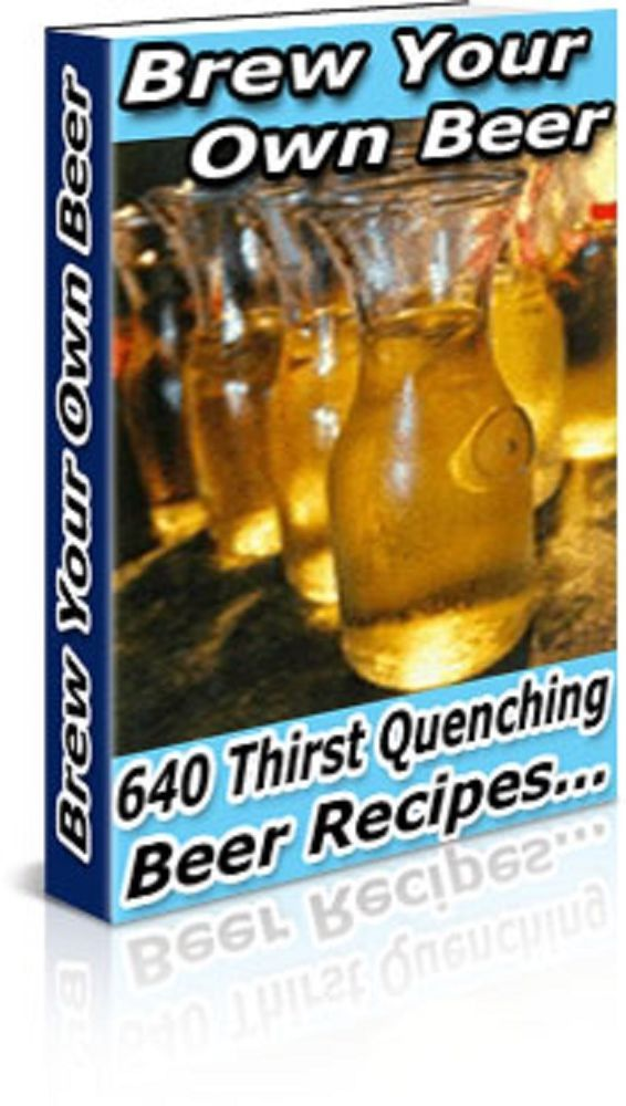 Brew Your Own Beer Book ----640  Recipes-----CD