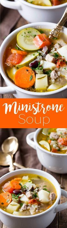 Classic ministrone soup is a hearty cozy soup perfect for the winter months.
