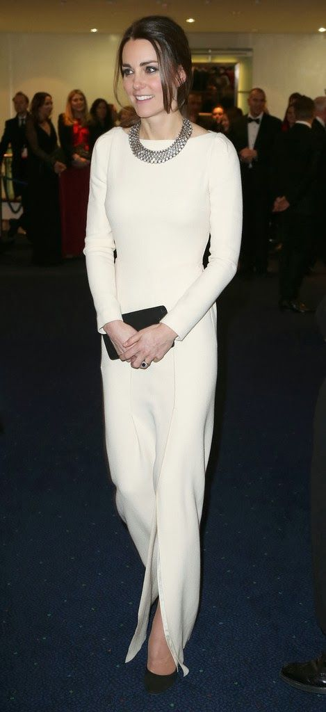Kate: From Berkshire to Buckingham : Kate Recycles White Roland Mouret Gown for Mandela Film