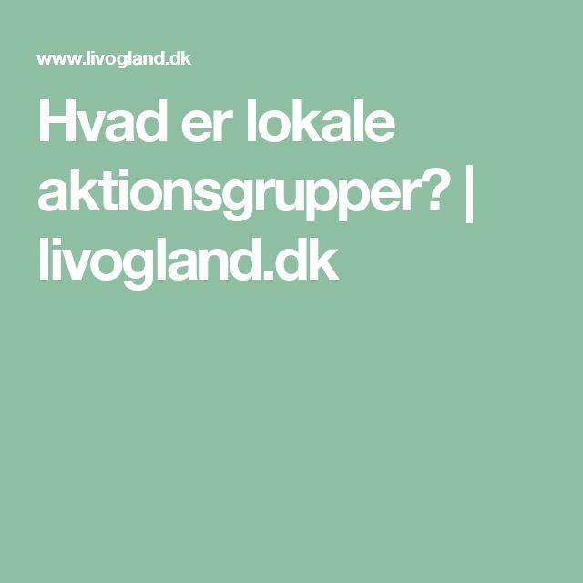 Hvad er lokale aktionsgrupper? | livogland.dk