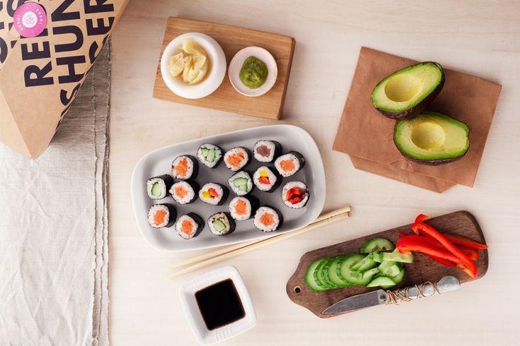 REISHUNGER Sushi Box - original japanische Zutaten zum Sushi Selbermachen in einer Box #reishunger #sushi #rice #box #gift