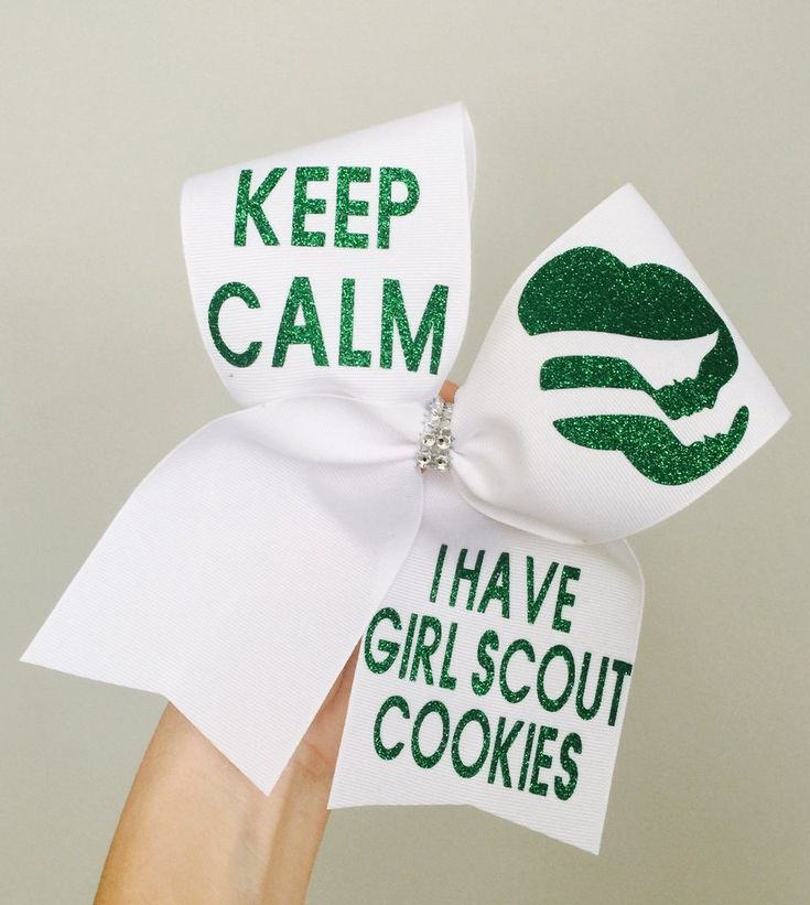 KEEP CALM I HAVE GIRL SCOUT COOKIES CHEER HAIR BOW