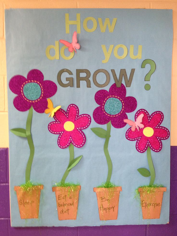 How do you grow? School nurse bulletin board.