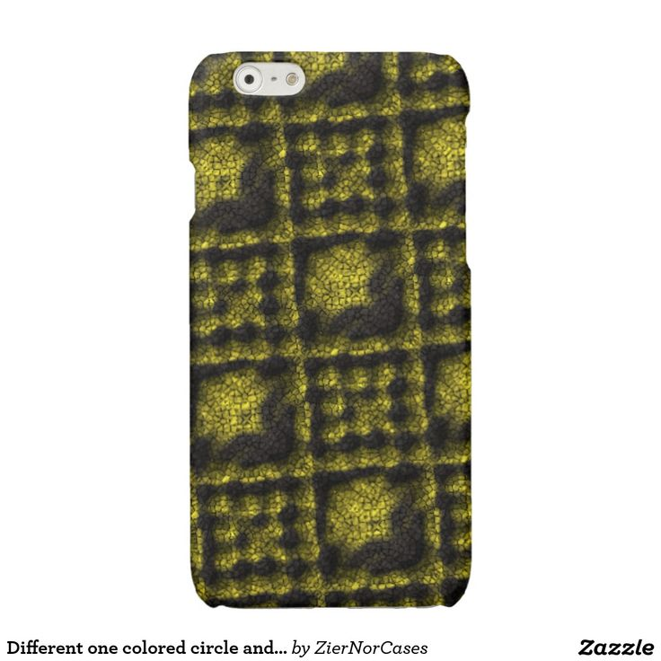 Different one colored circle and square pattern glossy iPhone 6 case