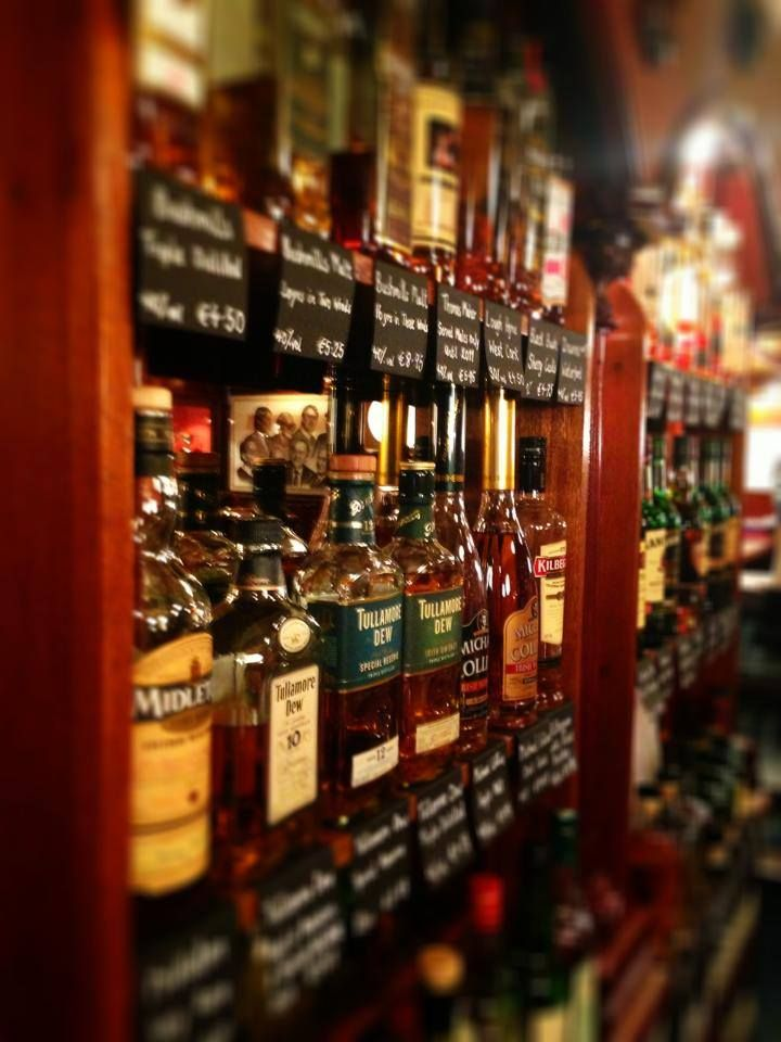 Huge Selection of Whiskey available on our new Whiskey Wall, that's right a wall of whiskey! Granville Hotel, Waterford