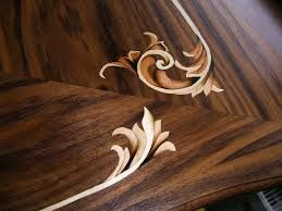 modern marquetry, table flourish