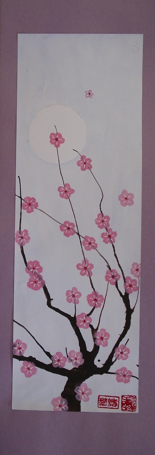 japanese cherry blossom painting and link to other great art ideas
