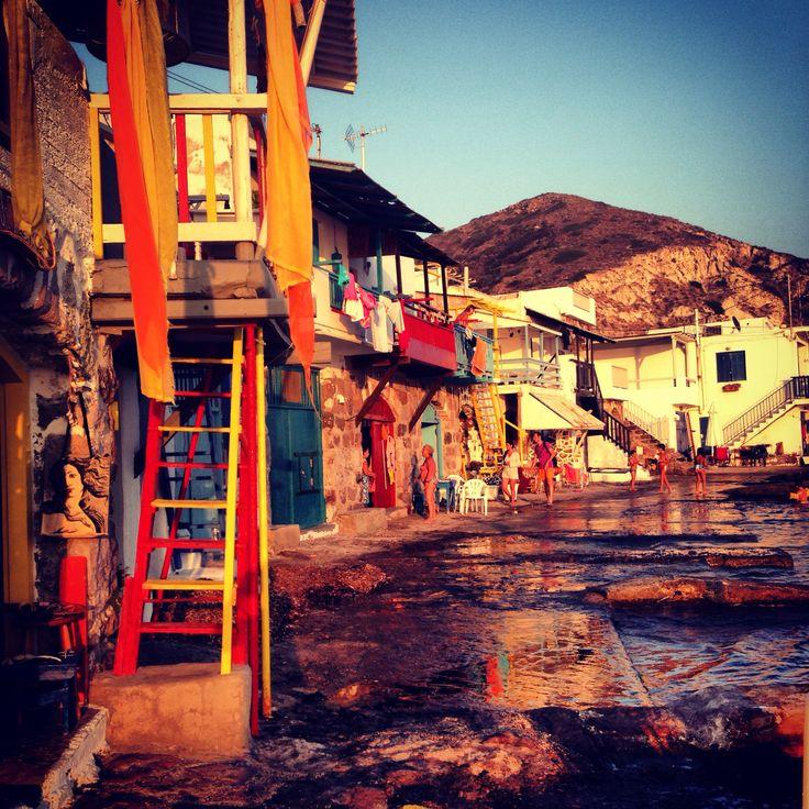 Milos island (klima) #greece #island #klima #village #colourful #doors #fisherman