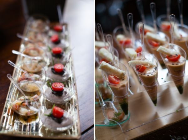 unique individual wedding canapes