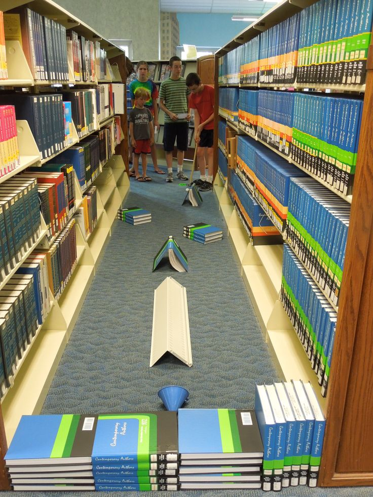 Library Mini-Golf - Link takes you to Delaware  County District Library site, but I want to remember this idea