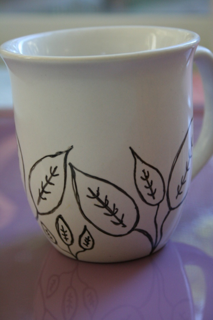 Design your own mug with a porcelain paint pen. Cool!