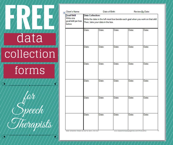 Best Slp Data Collection Freebies Images On   Data