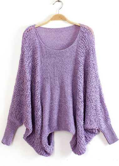 lavender batwing sweater