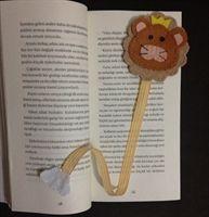 Keçe Kitap Ayracı - Lion Bookmark Felt
