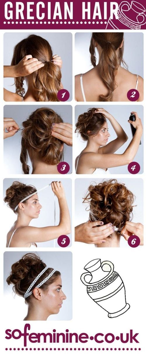 DIY Grecian Hairstyle for the Toga Party!