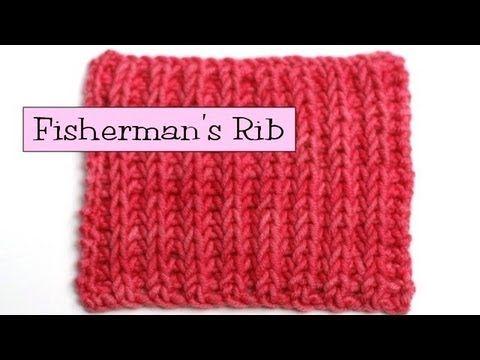 Knitting Stitches Fisherman s Rib : Fancy Stitch Combos - Fishermans (English) Rib Knit. Pinterest Kni...