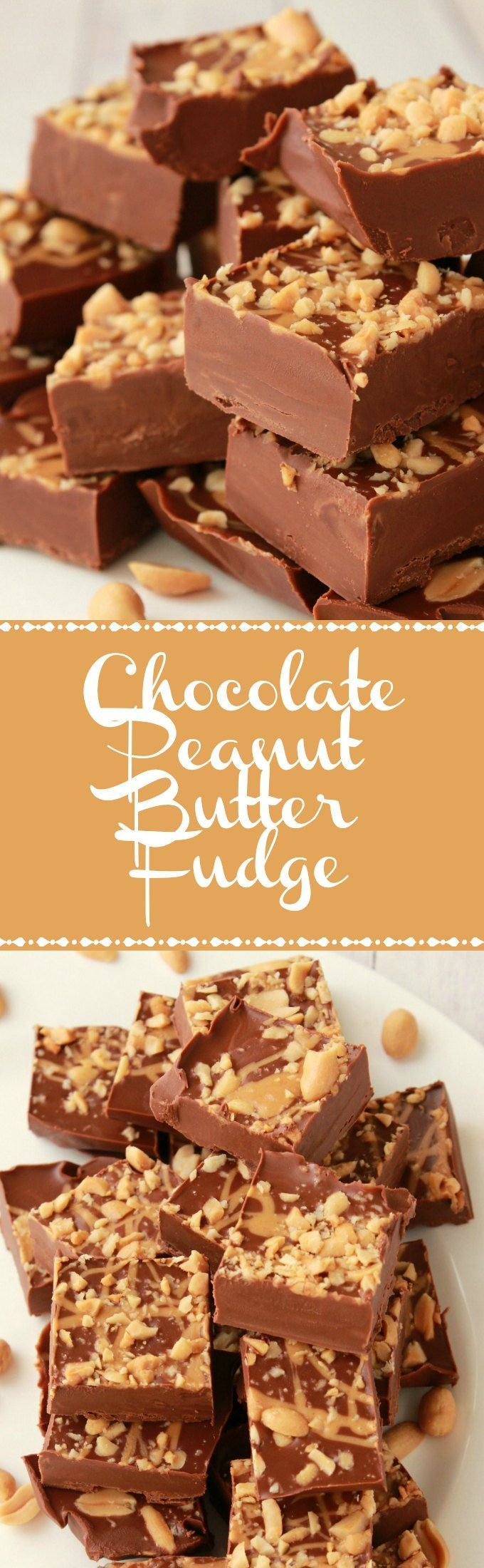 Chocolate Peanut Butter Fudge. Vegan and Gluten-Free. Vegan | Vegan Desserts | Gluten-Free | Gluten-Free Desserts | Vegan Recipes