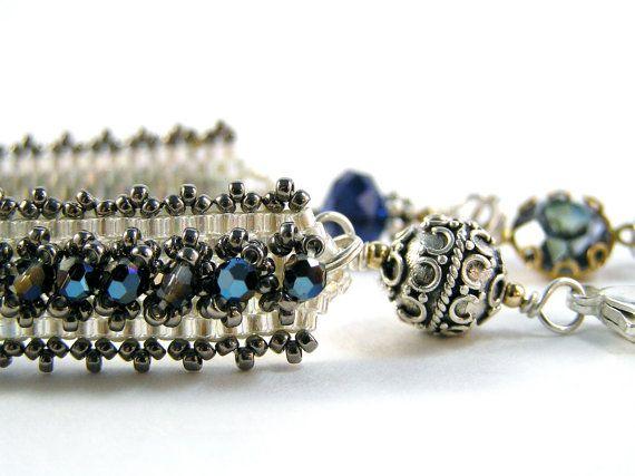 Katherine The Great Bracelet  Beadweaving  by knitbeadlove on Etsy