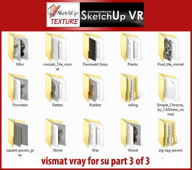 SKETCHUP TEXTURE: VISMAT VRAY FOR SKETCHUP part 3