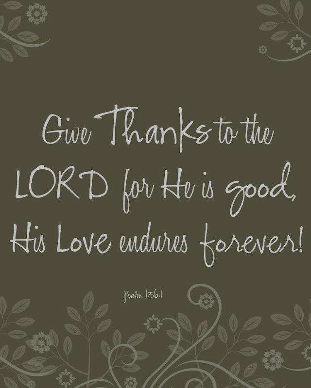 Bible verse - Psalm 136:1