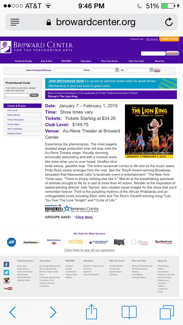 Lion King - Broward Performing Arts