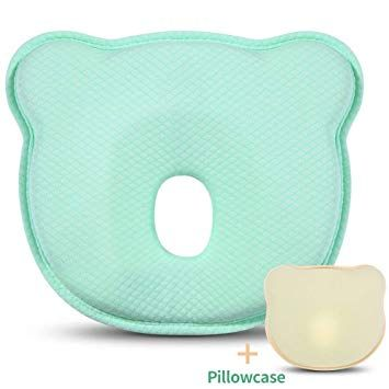 Baby Pillow,Head Shaping Pillow Breathable Memory Foam Pillows Preventing Flat