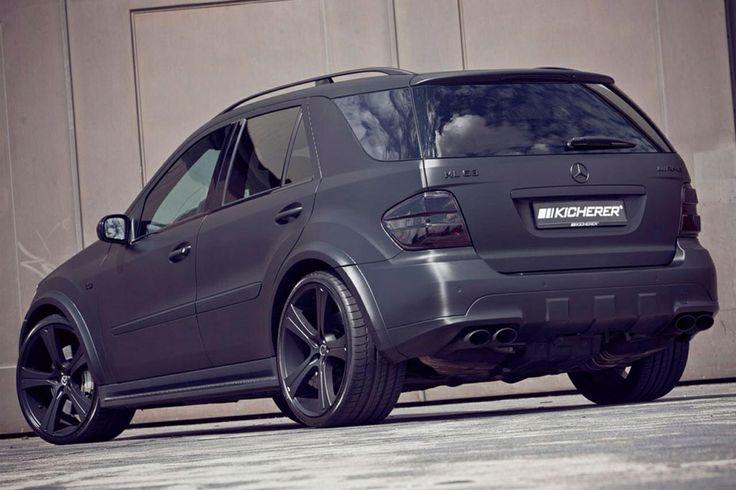 Mercedes, ML63, AMG, MATTE BLACK all round = Love ...