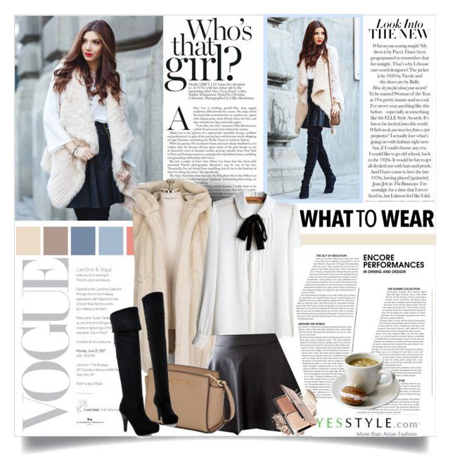 """""""Annual Leave with Yesstyle"""" by ana-anaaaa ❤ liked on Polyvore featuring Eranzi, JVL, Munhome, MICHAEL Michael Kors, JY Shoes, women's clothing, women's fashion, women, female and woman"""