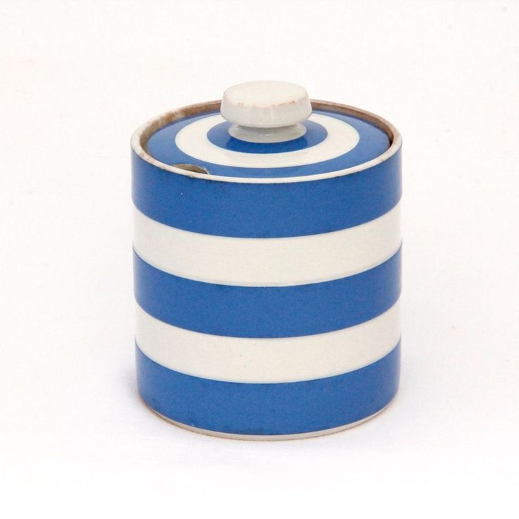 T G Green Cornishware Preserve Jar Judith Onions 1968 to 1975 3.7in Tall