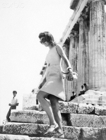 Athens, 7th of August 1979. Jackie Οnassis Walks Down the Parthenon's Steps