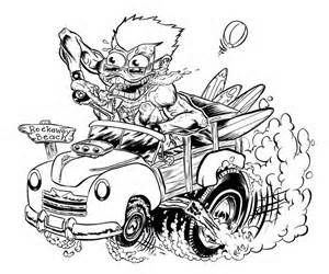 47 best Hot Rod Coloring images on Pinterest Rat fink Coloring