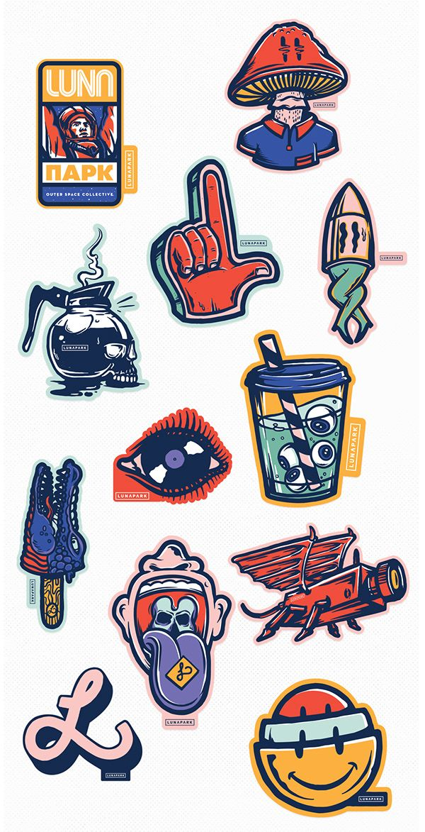 Stickers Pack LUN∆P∆RK X PETERJAYCOB™ on Behance