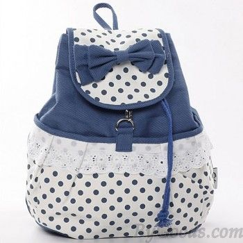 Fresh Sweet Dot Lace Bow Backpack|Fashion Backpacks - Fashion Bags|ByGoods.com