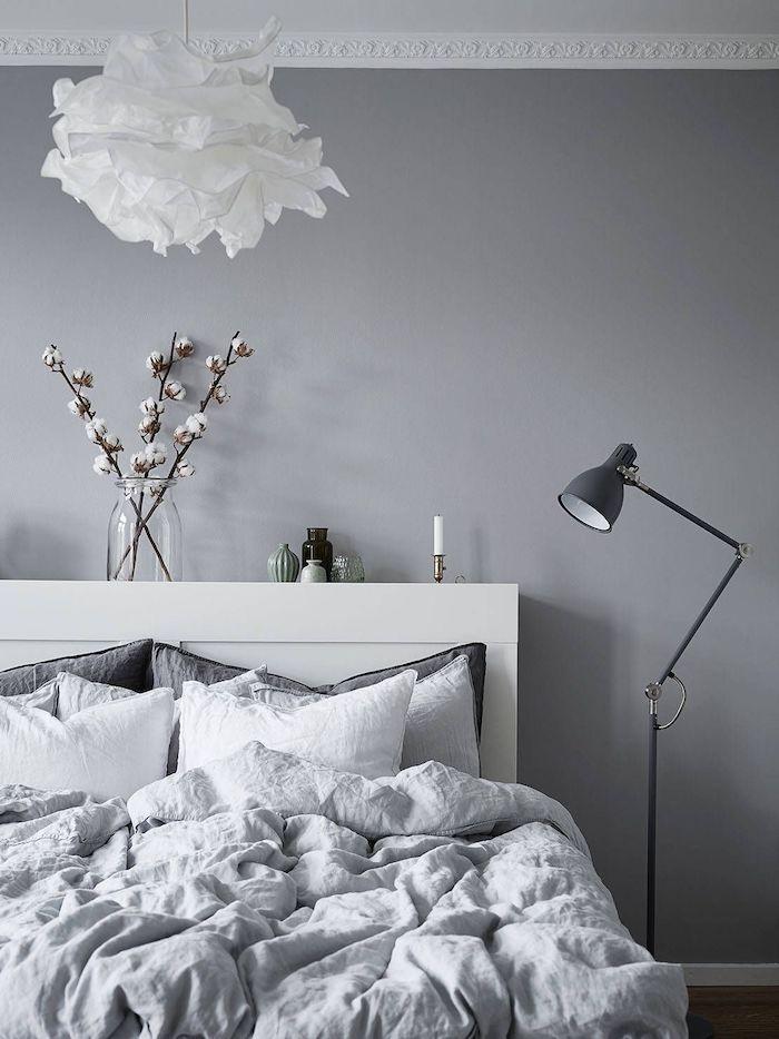 ▷ 1001 + atemberaubende Ideen für Wandfarbe Grau #schlafzimmer