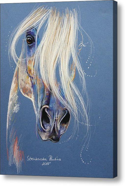 Magic White Arabian Acrylic Print By Paulina Stasikowska
