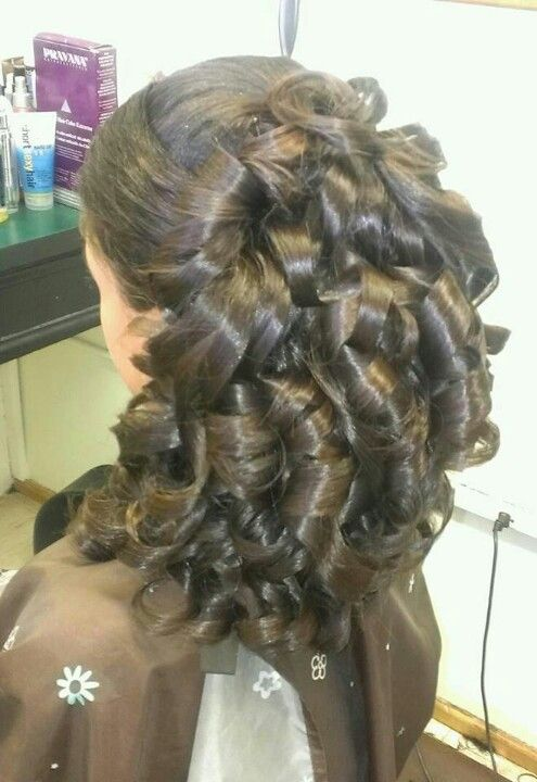 Pulled To The Side With Big Barrel Curls Great For Prom