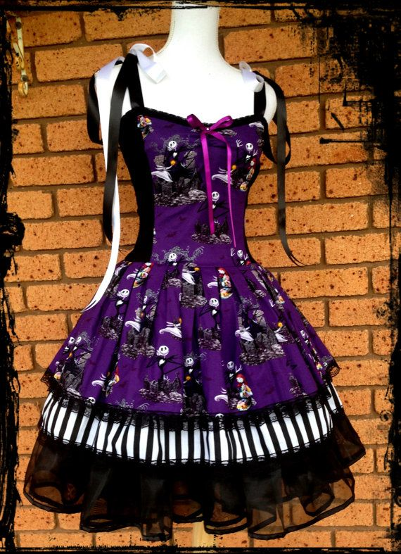 Nightmare Before Christmas Dress Size Large by annaladymoon