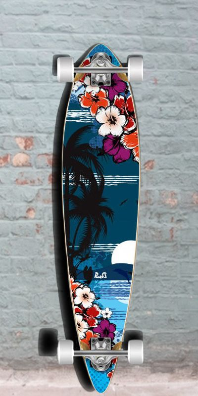 Longboards USA - Tropical Night 40 inch Pintail Longboard from Punked - Complete, $96.99 (http://longboardsusa.com/longboards/beginners-longboards/tropical-night-40-inch-pintail-longboard-from-punked-complete/)