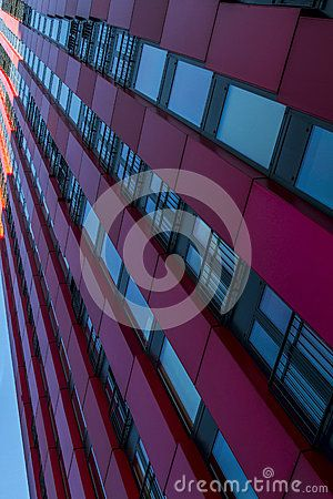 Fragment buildings named  of Red Apple Building in Rotterdam, Netherlands.