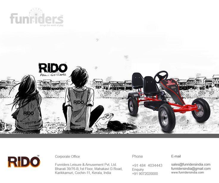 The Rido Pedal Go Kart for Kids, Teens & Adults #Rido #Funriders #GoKart #PedalKarting
