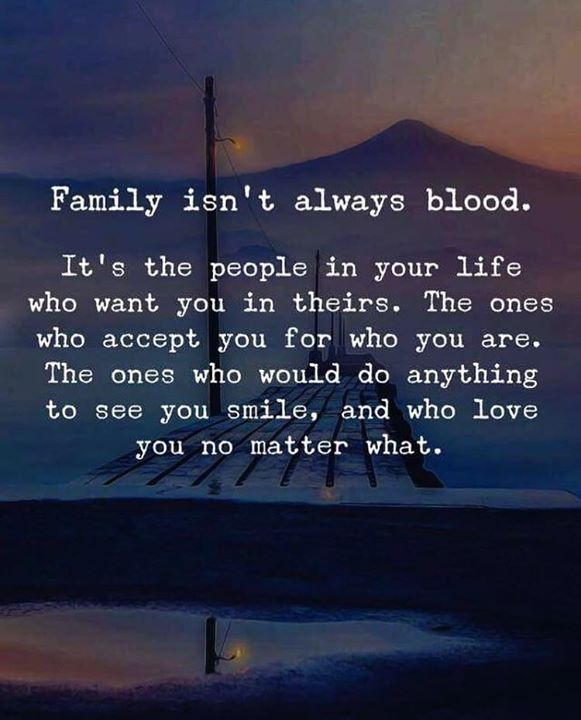 Constructive Quotes : Household isnt all the time blood..