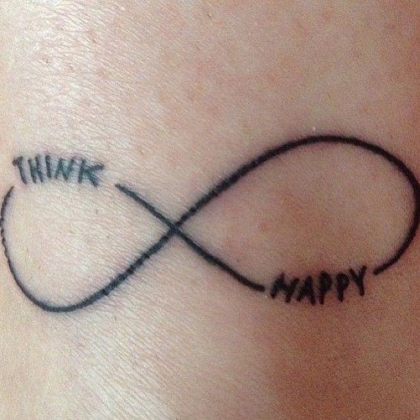 small wrist tattoos for women | Small infinity think happy wrist tattoo uncategorized
