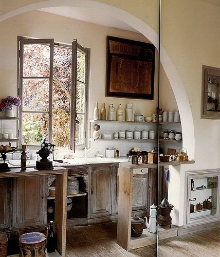 french country kitchen Fenêtre!