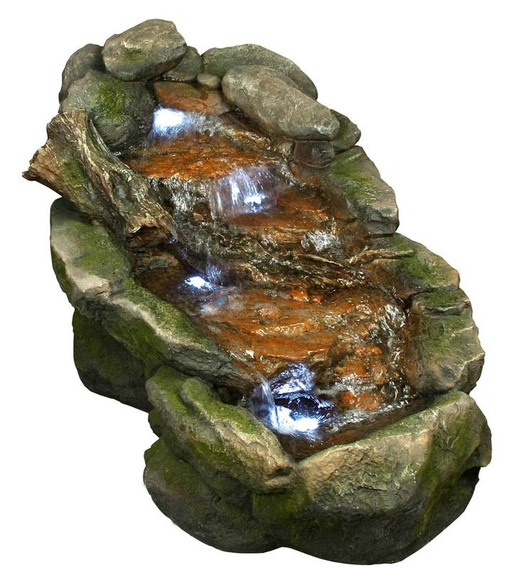 Flat Rock Stream Fountain w/ LED Lights - 99 Best Water Fountains Images On Pinterest