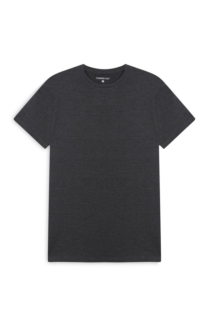 T-shirt jaspeado cinzento