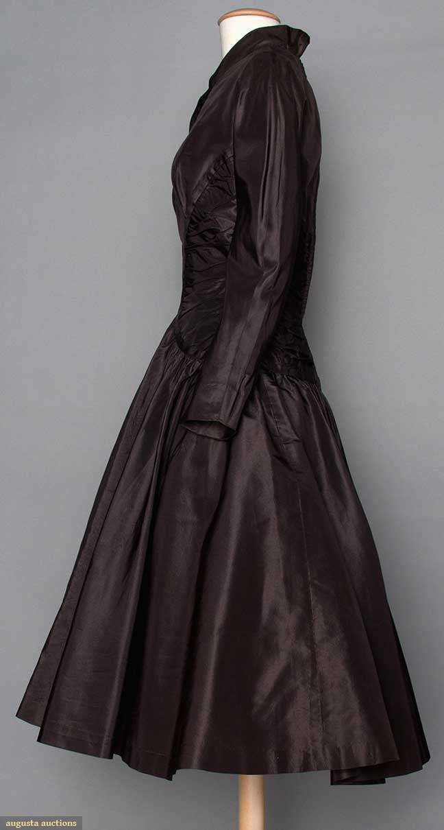Black silk party dress