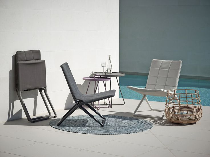 Traveller folding chair is now available in our new material #caneline SoftTouch.   #Danishdesign #outdoor #foldingchair